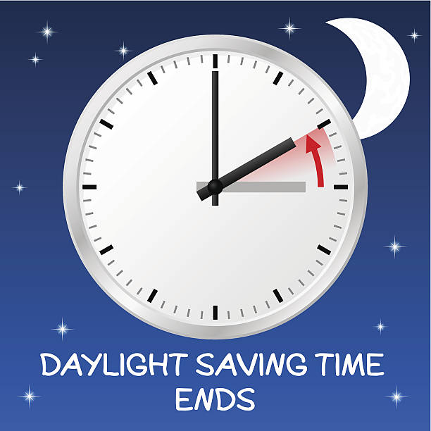 change to standard time - daylight savings time stock illustrations, clip art, cartoons, & icons