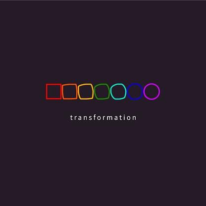 Change, transformation, evolution, development icon