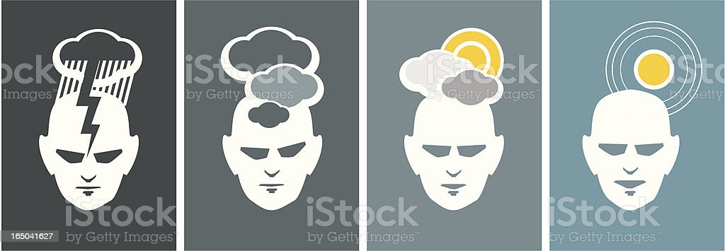 changing moods - weather report royalty-free stock vector art
