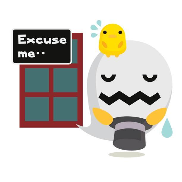 謝罪おばけチャネル/ゴースト - お礼点のイラスト素材/クリップアート素材/マンガ素材/アイコン素材