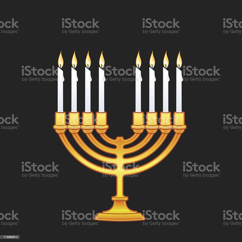 Chanukah - candles 8 piece royalty-free stock vector art