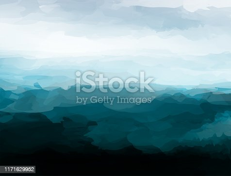 istock chaos style mountain landscape vector watercolor pattern poster 1171629952