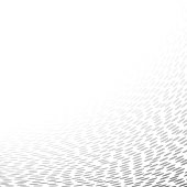 chaotic dots that makes a curved surface. halftone effect abstract background. vector backdrop with copy space.