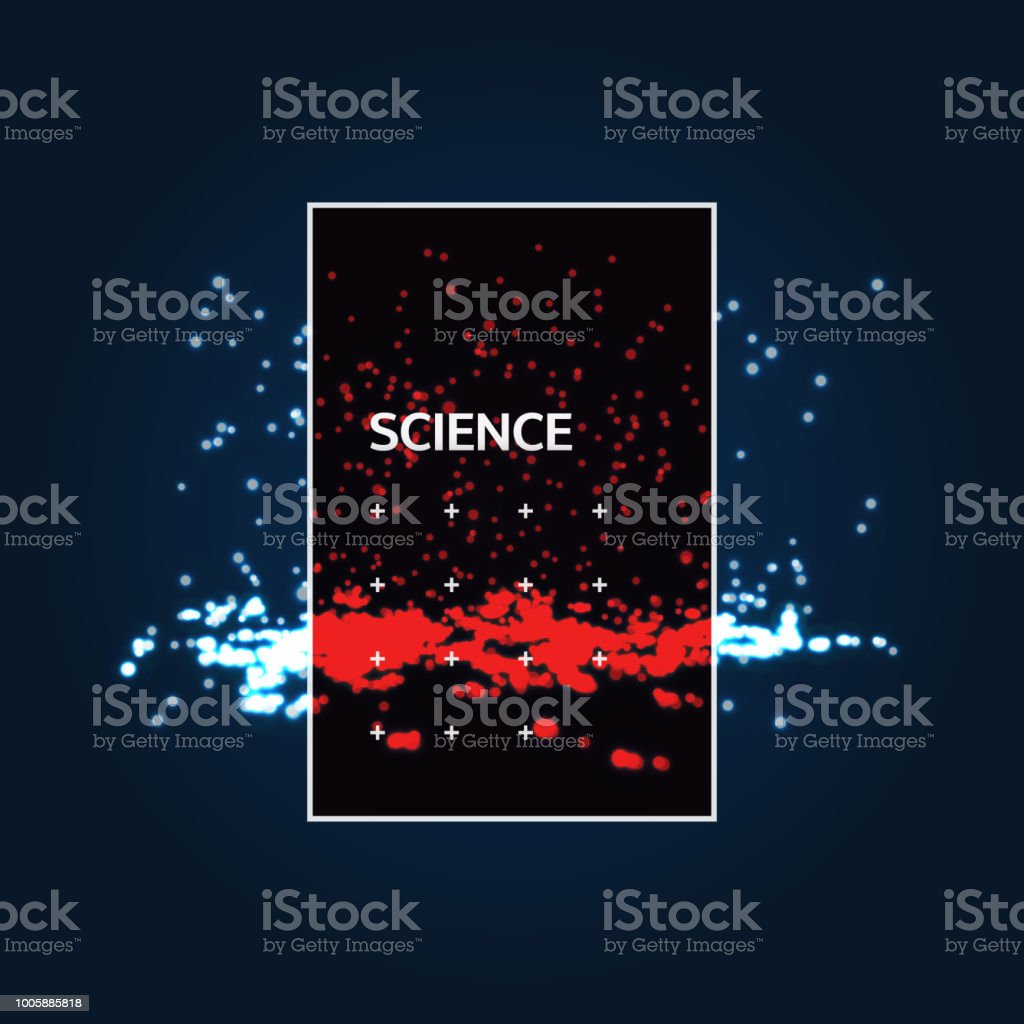 Chaotic Particles In Empty Space Dynamic Background Vector
