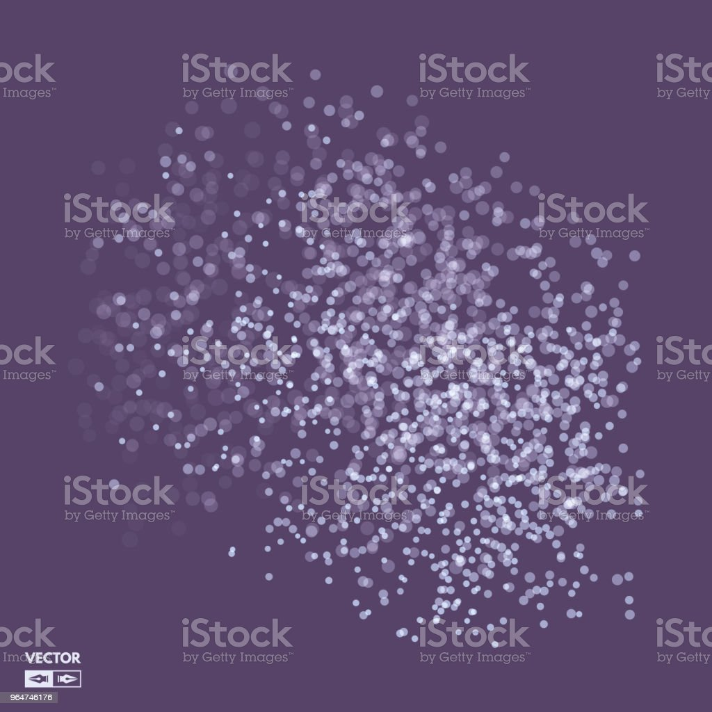 Chaotic particles in empty space. Dynamic background. Vector illustartion. royalty-free chaotic particles in empty space dynamic background vector illustartion stock illustration - download image now