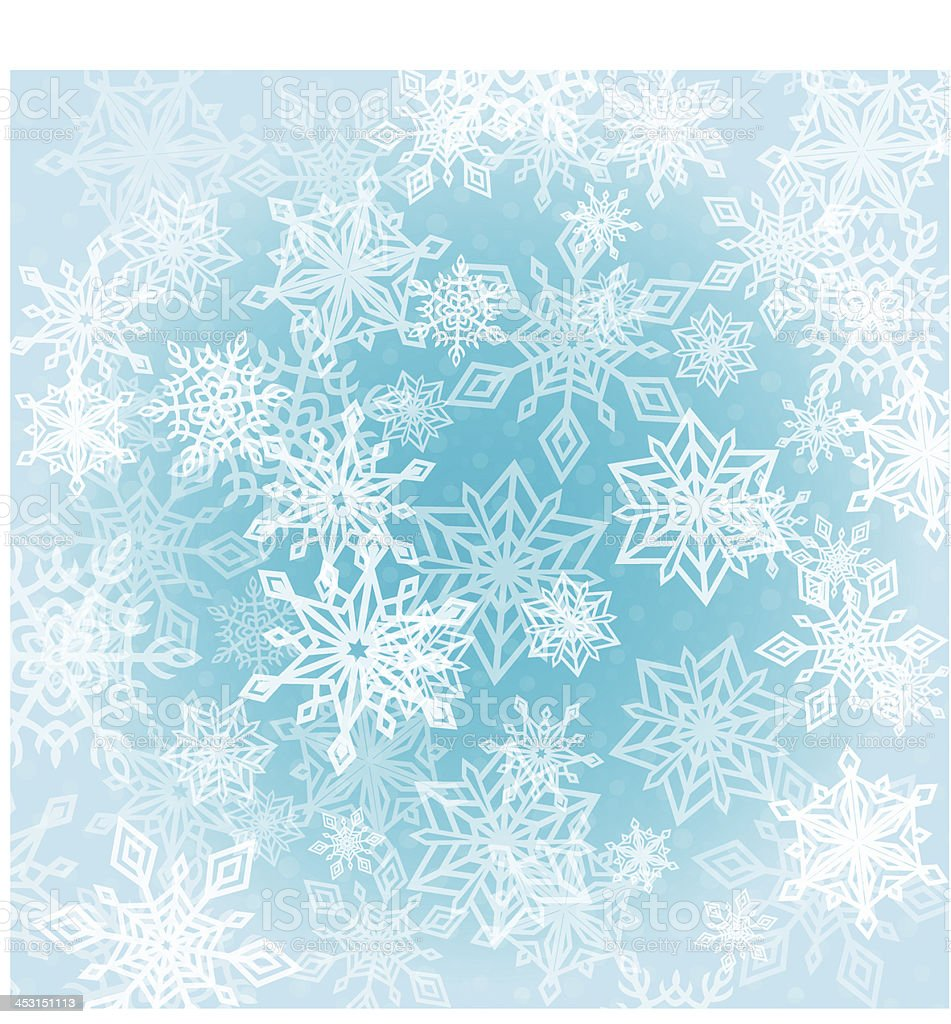 Chaotic Snowflakes Background royalty-free stock vector art