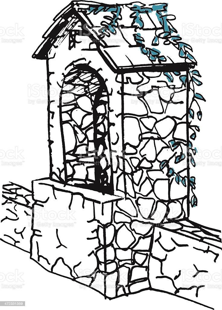 Chapel royalty-free stock vector art