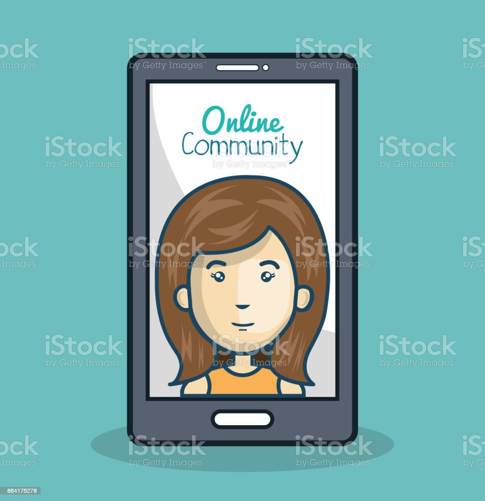 character and smartphone online community design isolated royalty-free character and smartphone online community design isolated stock vector art & more images of adult