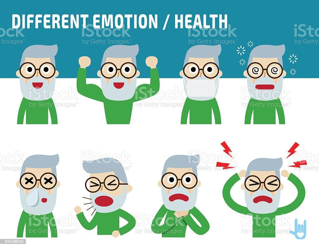 Ilustración De Icono De Personaje De Dibujos Animados De Salud Y Más Vectores Libres De Derechos De Alergia