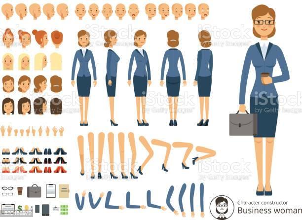 Character constructor of business woman cartoon vector illustrations vector id820486972?b=1&k=6&m=820486972&s=612x612&h=wuba5uhfunjmbluftva2mdey2dhuh9tmak5nrohapws=