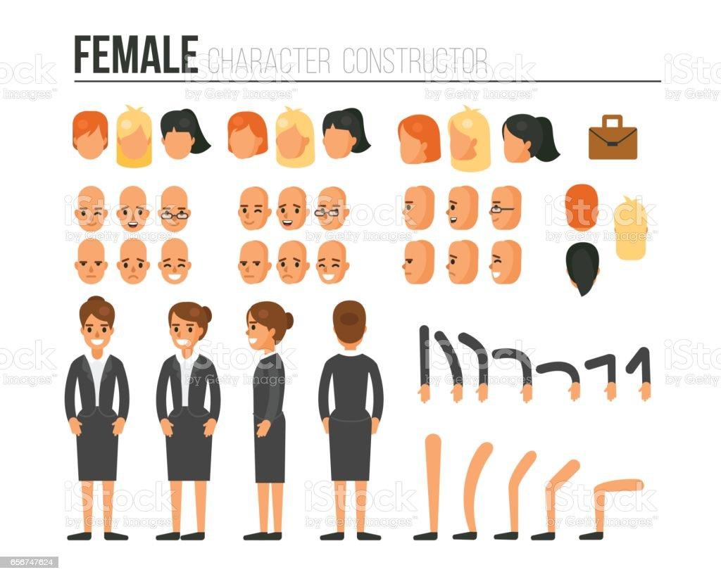 Character constructor vector art illustration