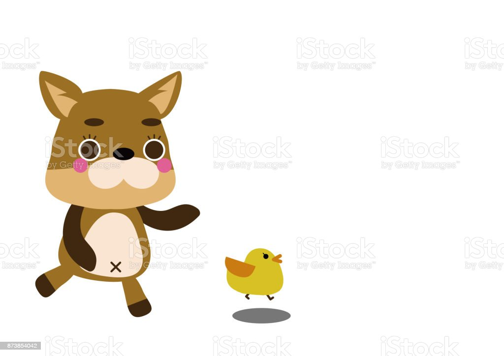 character design one point illustration of a dog puppy clip art