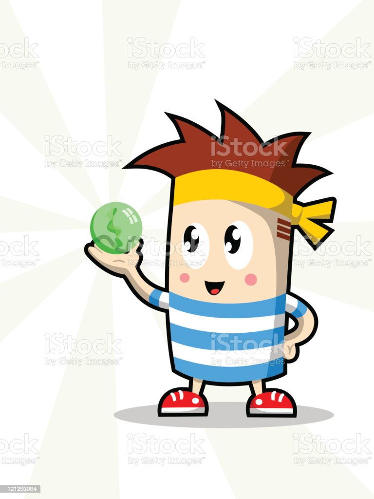 Character Holding Magic Marble royalty-free character holding magic marble stock vector art & more images of australia