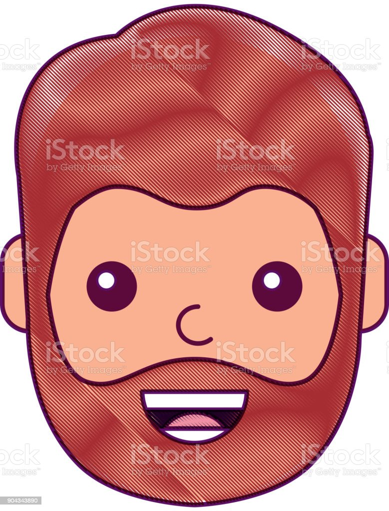 character man face laughing happy image vector art illustration