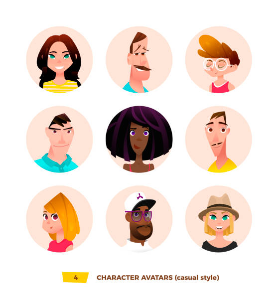 ilustrações de stock, clip art, desenhos animados e ícones de characters avatars in cartoon flat style - enjoying wealthy life
