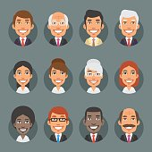Characters Business People in Circle