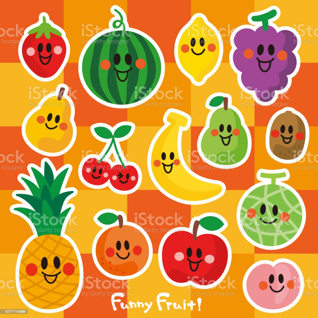 果物の笑顔文字 アイコンのベクターアート素材や画像を多数ご用意 Istock