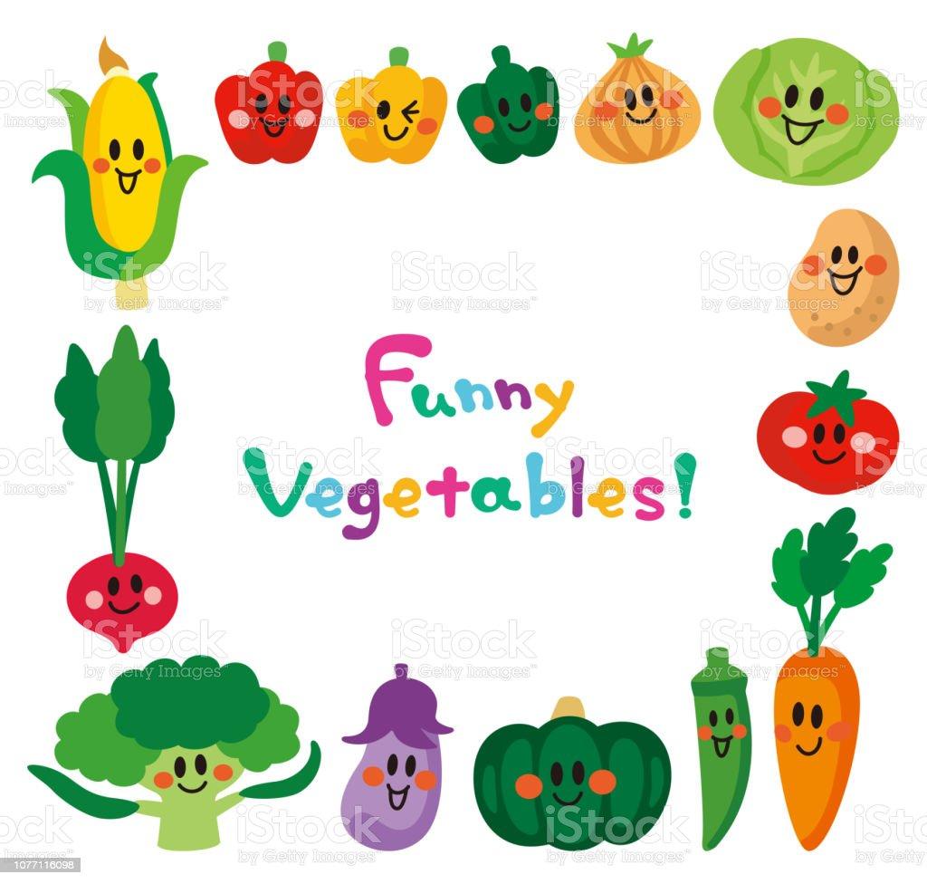 Vegetablesframe の笑顔文字 アイコンのベクターアート素材や画像を多数ご用意 Istock