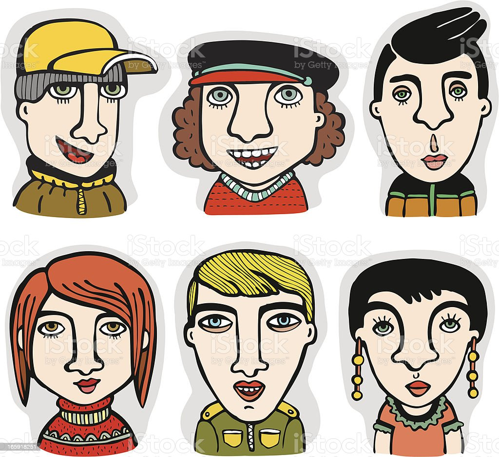 Characters set royalty-free stock vector art