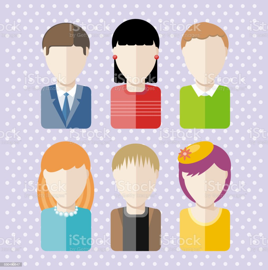 Set characters silhouettes of people different professions architect...