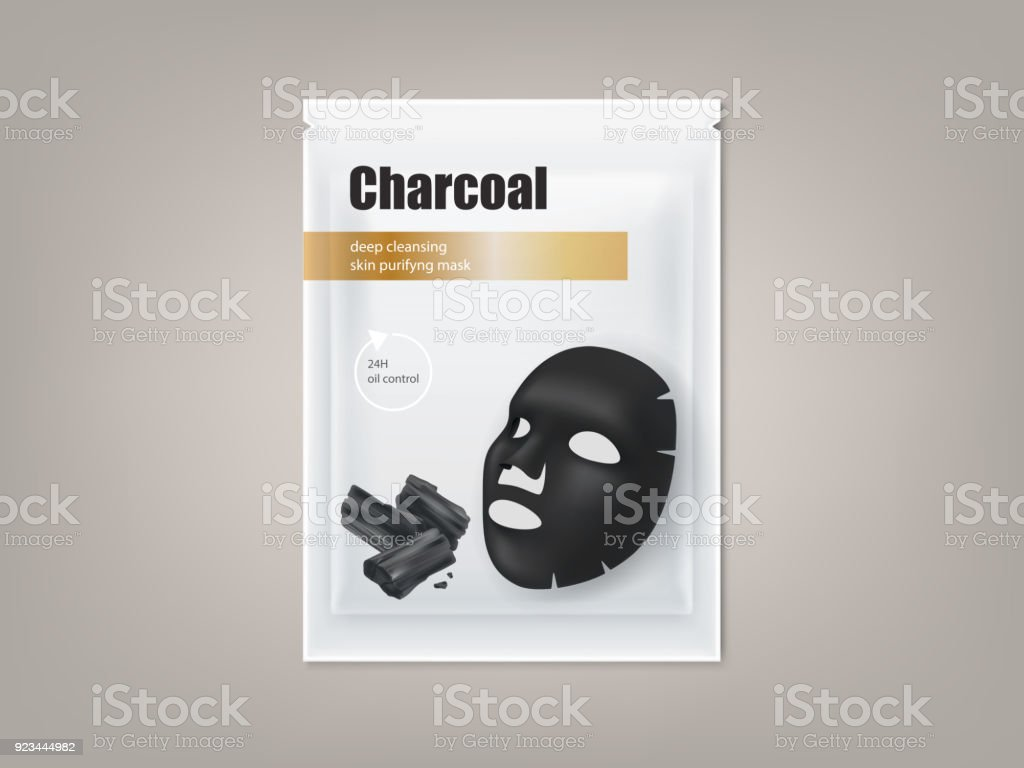 Charcoal Black Facial Mask Vector Package Design Stock Illustration Download Image Now Istock
