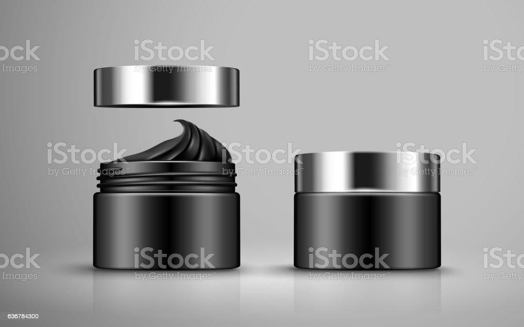 charcoal detoxifying mask vector art illustration