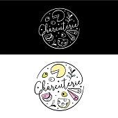 Charcuterie board illustration