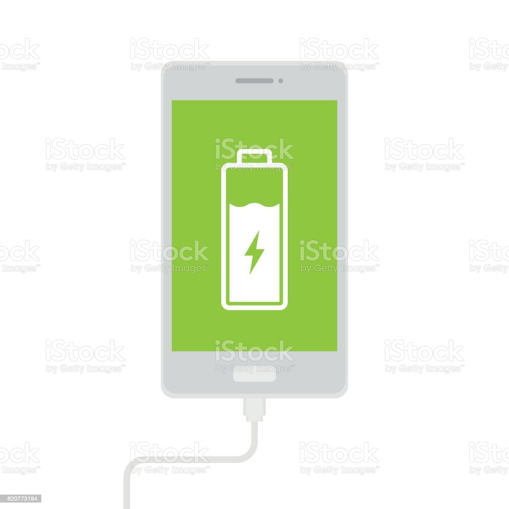 charge mobile phones vector art illustration