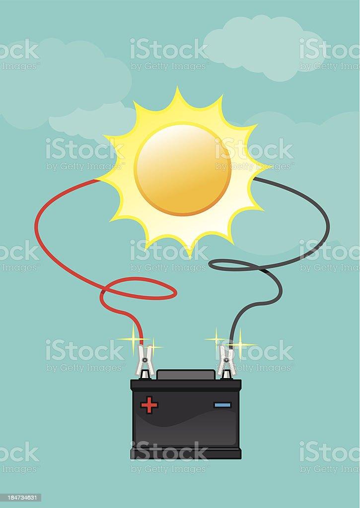 Die Batterie laden – Vektorgrafik
