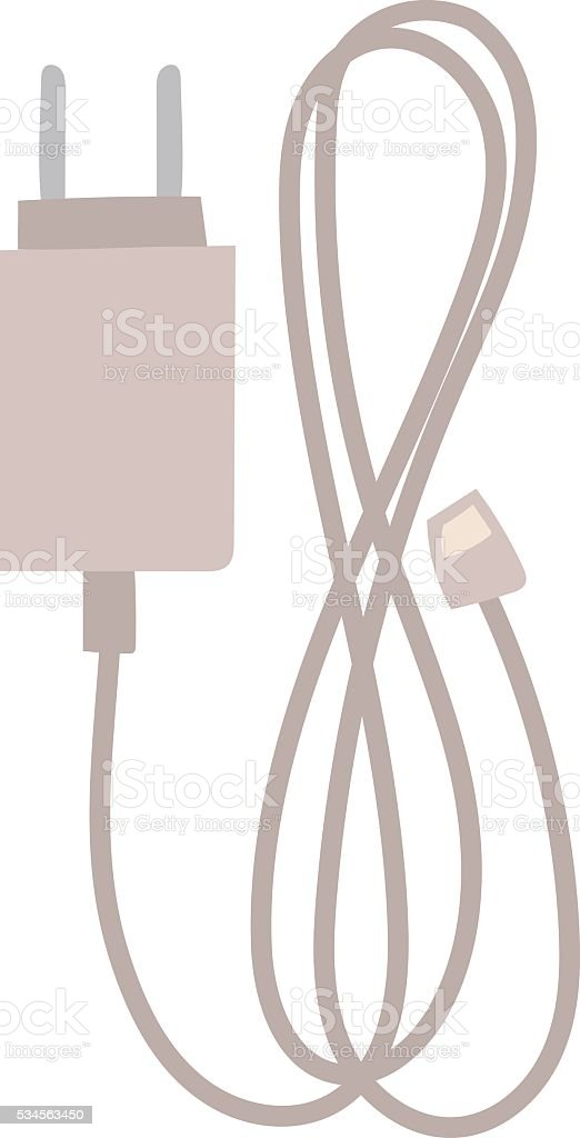 Charger vector flat icon. vector art illustration