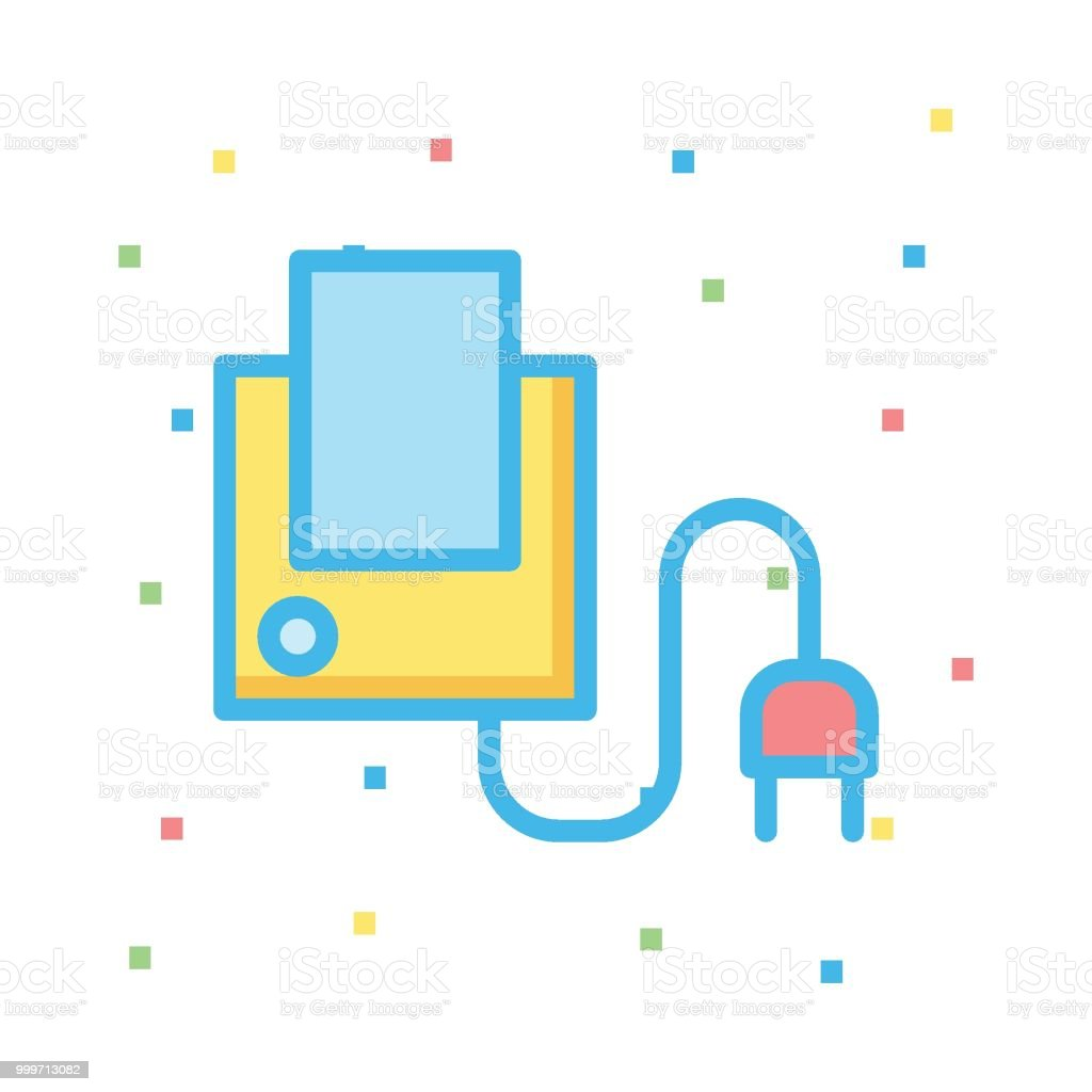 charger vector art illustration