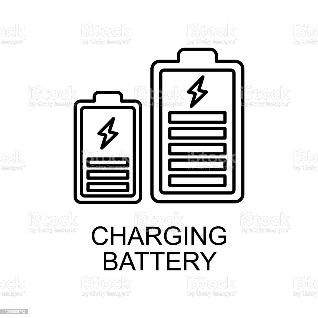 Charging Battery Outline Icon Element Of Enviroment Protection Icon
