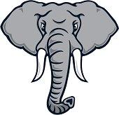 Charging Elephant Mascot