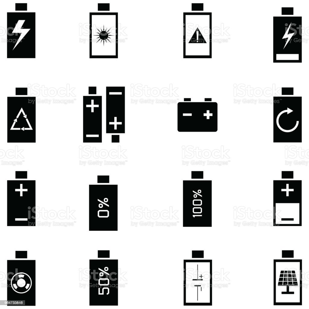 charging icon set royalty-free charging icon set stock vector art & more images of alkaline