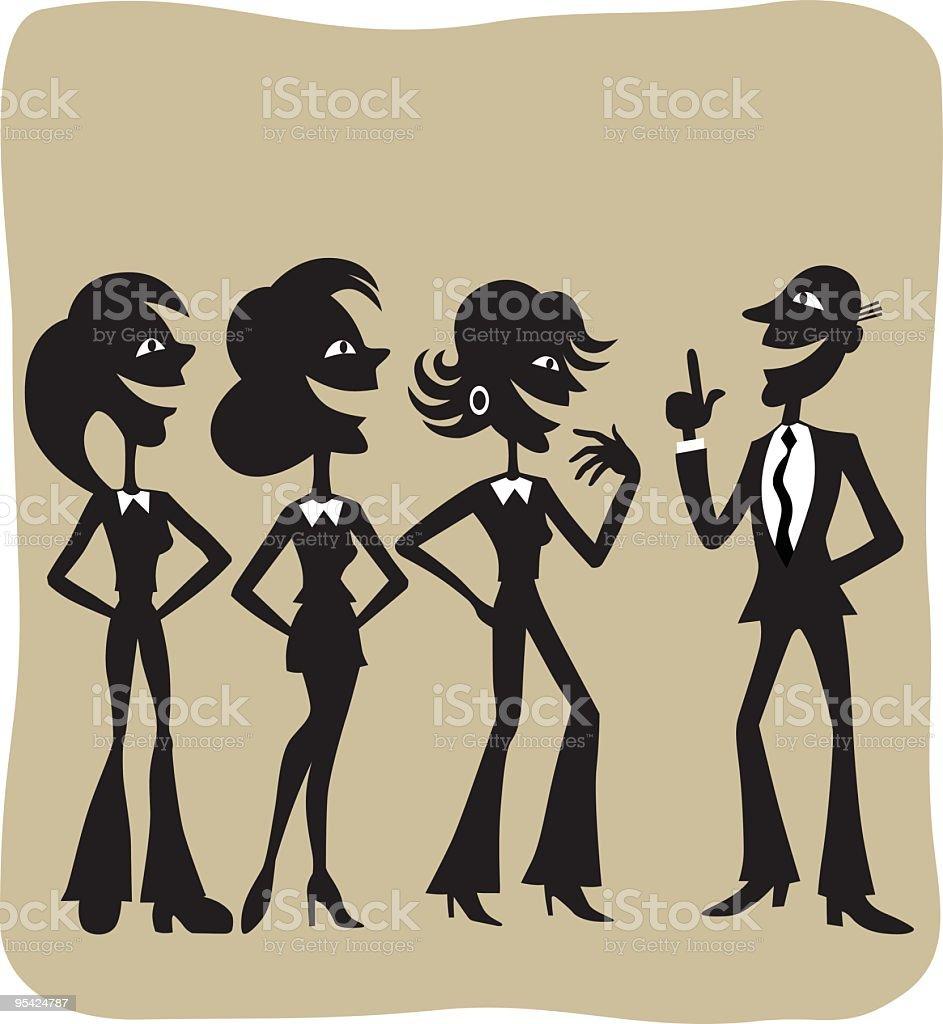 Charismatic Men royalty-free stock vector art