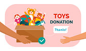 istock Charitable toys donation for kids 1223168917