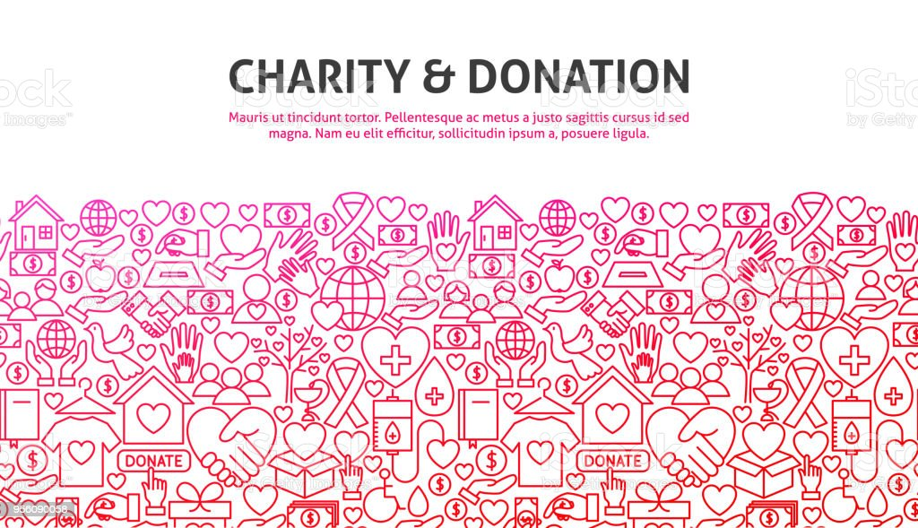 Charity and Donation Concept vector art illustration