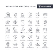 29 Charity and Donation Icons - Editable Stroke - Easy to edit and customize - You can easily customize the stroke with