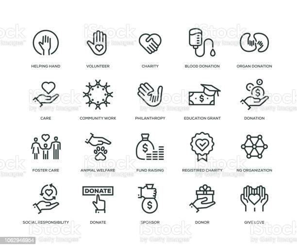 Charity and donation icons line series vector id1062946954?b=1&k=6&m=1062946954&s=612x612&h=ipgq9amz4oojuvoxpwojrpfe1ofd7sdlqdfeaa4vmwy=