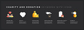 Charity And Donation Keywords with Icons