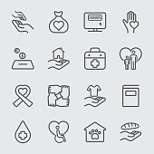 Charity and Donation line icon 1