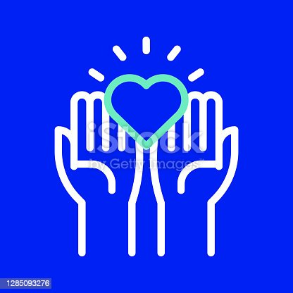 istock Charity and Donation Line Icon. Editable Stroke. Simple Outline Icons. 1285093276