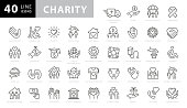 istock Charity and Donation Line Icons. Editable Stroke. Pixel Perfect. For Mobile and Web. Contains such icons as Charity, Donation, Giving, Food Donation, Teamwork, Relief 1270274628