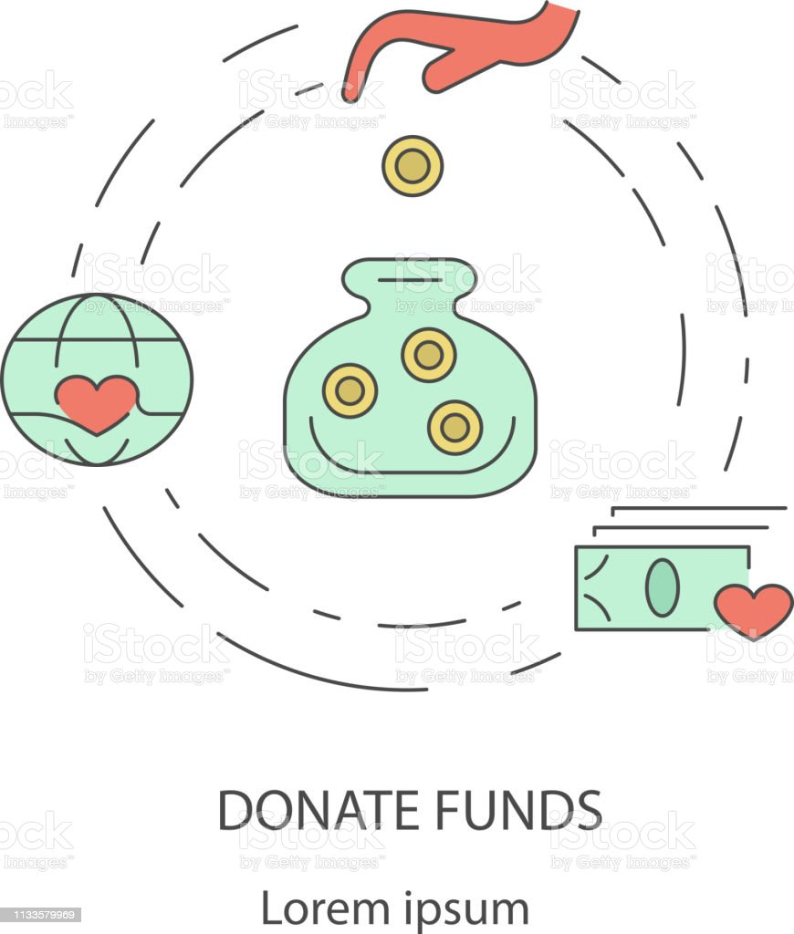 Charity and donation out line design concept of giving help, donating...