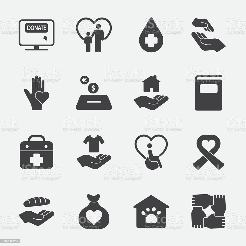 Charity and Donation vector icon 1 vector art illustration