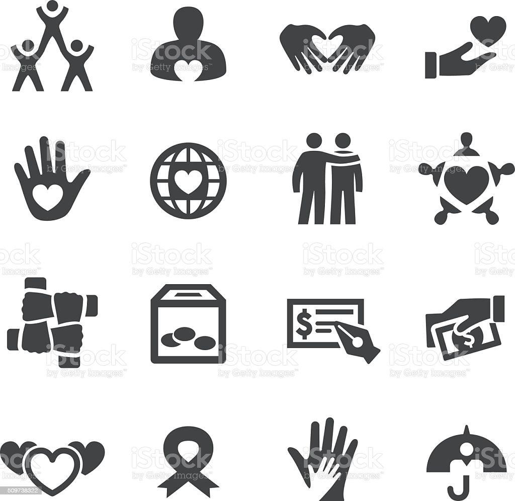 Caridad y alivio de la serie iconos-Acme - ilustración de arte vectorial