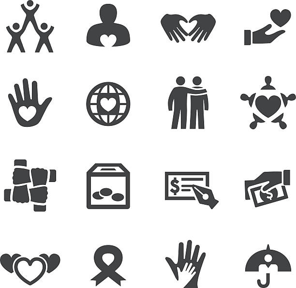 Charity and Relief Icons - Acme Series vector art illustration