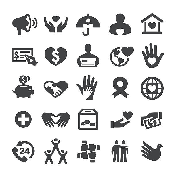 Charity and Relief Icons - Smart Series vector art illustration
