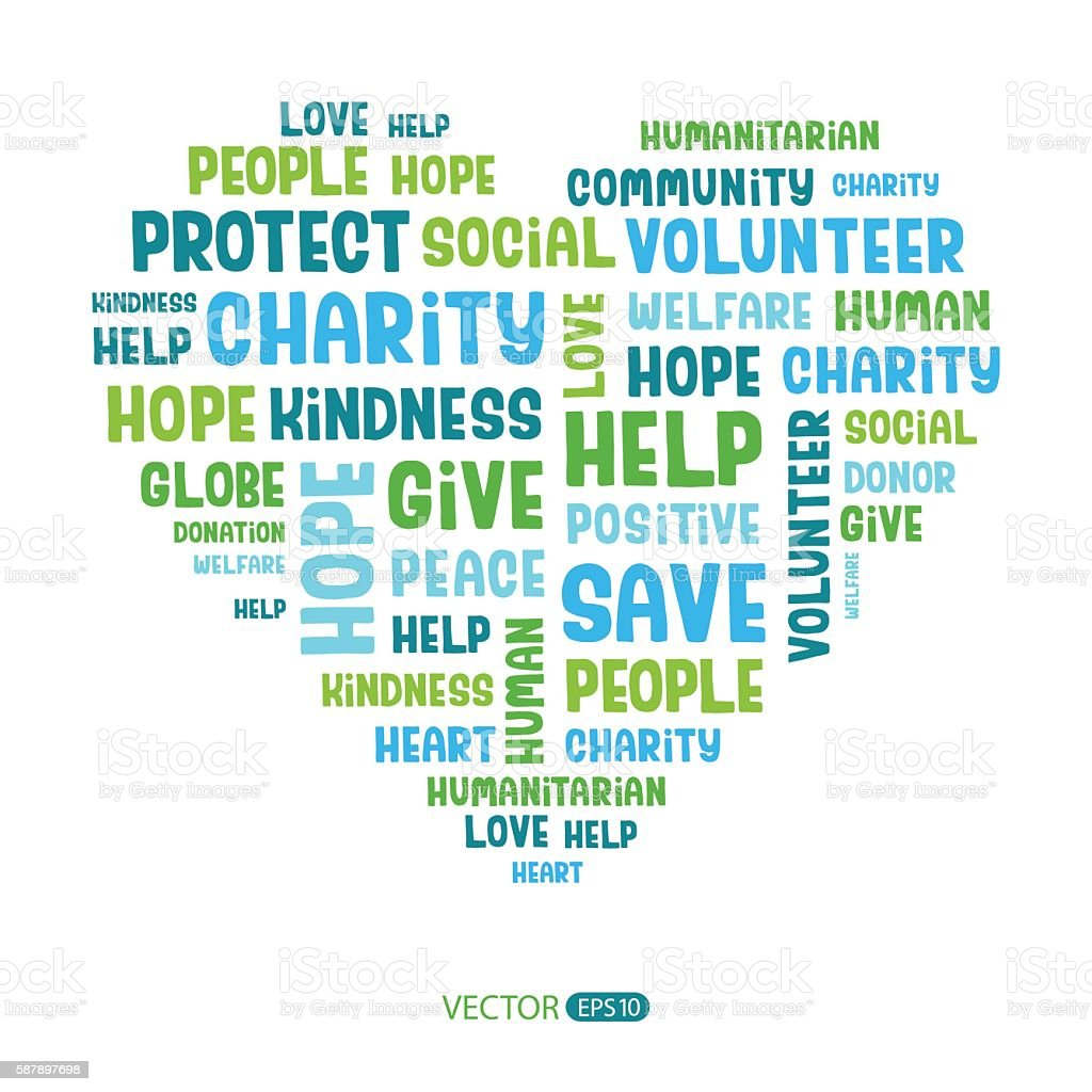 Charity concept. Vector illustration vector art illustration