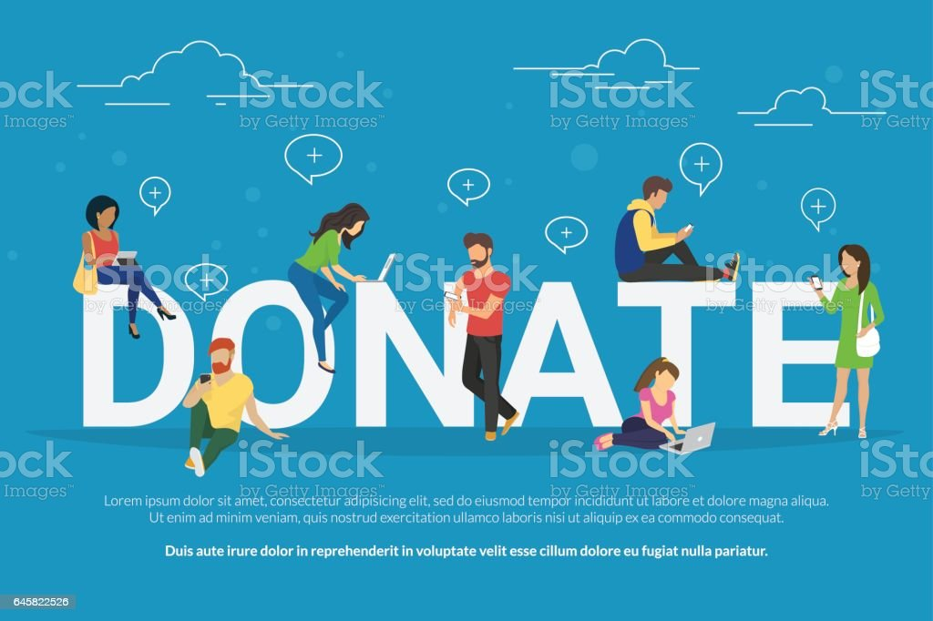 Charity donation funding concept illustration vector art illustration